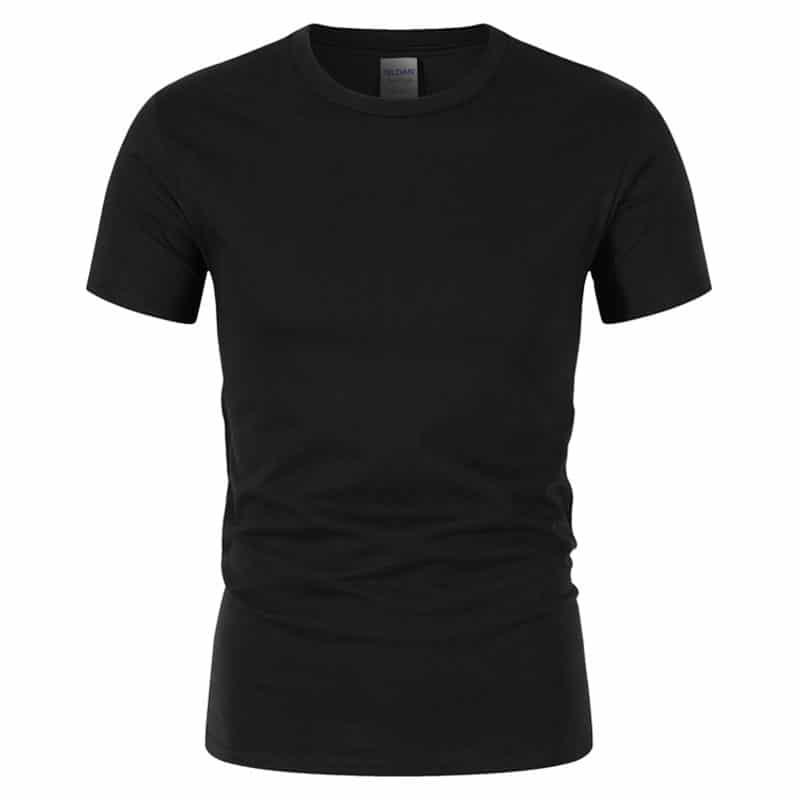 T-Shirt de Sport Noir avec Lettres 3