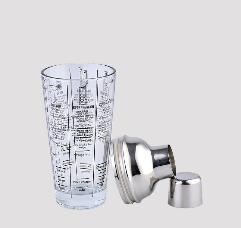 Shaker de Cocktail Transparent Acier Inoxydable 6
