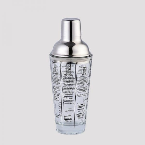 Shaker de Cocktail Transparent Acier Inoxydable 1