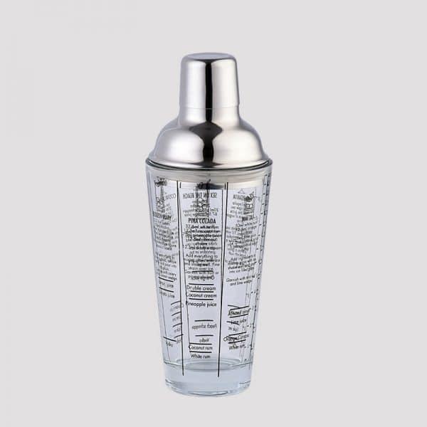 Shaker de Cocktail Transparent Acier Inoxydable 1