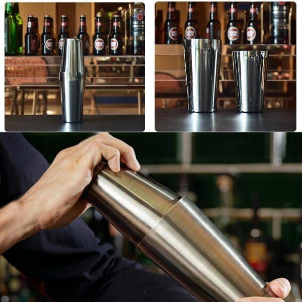 Shaker de Cocktail Argent Acier Inoxydable 5