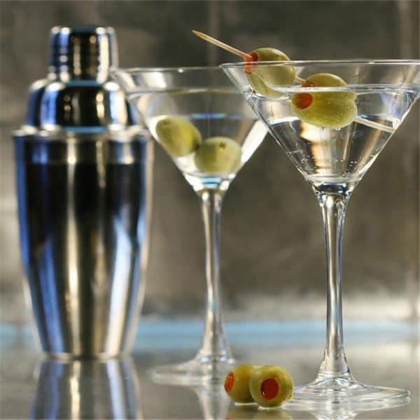 Shaker de Cocktail Argent Acier Inoxydable 3