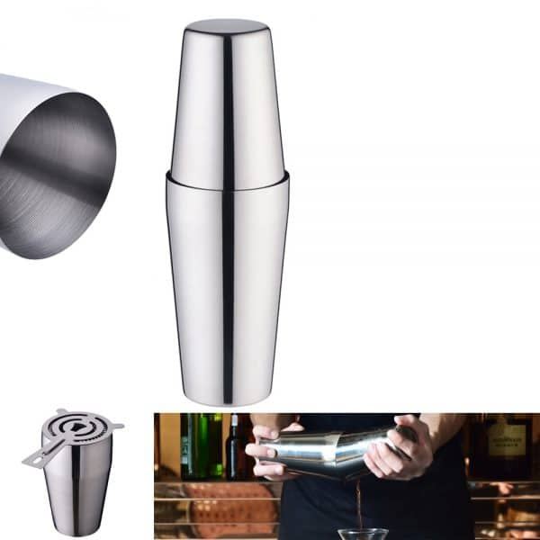 Shaker de Cocktail Argent Acier Inoxydable 1