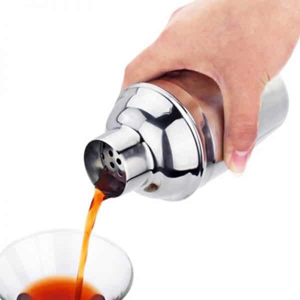 Shaker de Cocktail Argent Acier Inoxydable 2