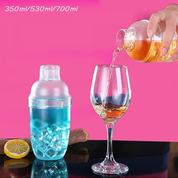 Shaker de Cocktail Transparent Plastique 3
