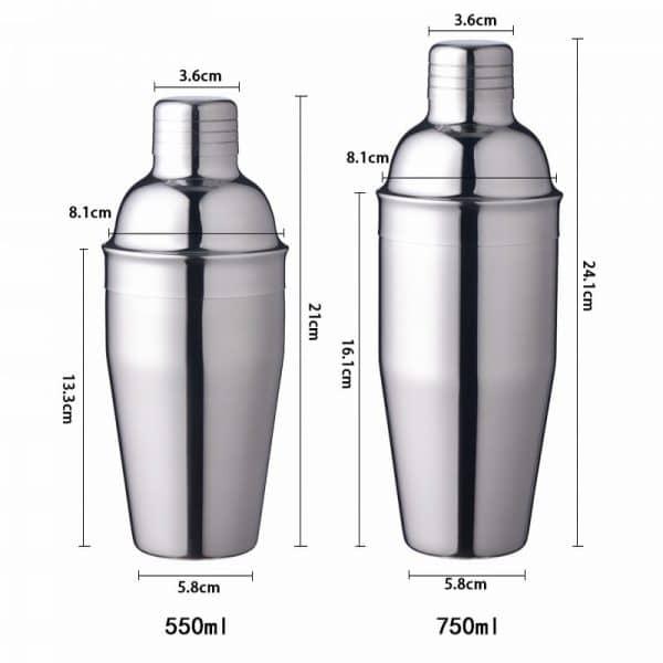 Shaker de Cocktail Argent Métal 5
