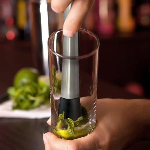 Pilon à Cocktail Solide Acier Inoxydable 4