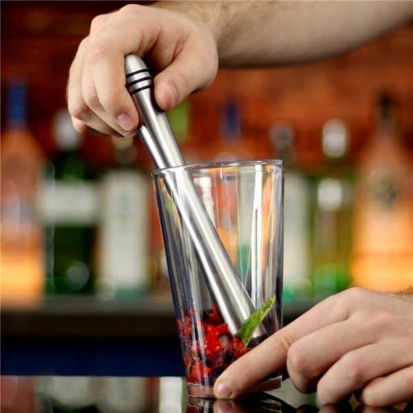 Pilon à Cocktail Argent Solide Métal 1