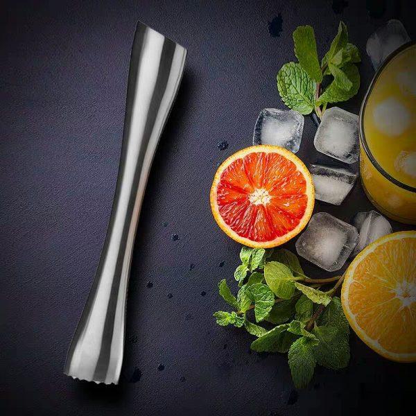 Pilon à Cocktail Argent Solide Acier Inoxydable 1