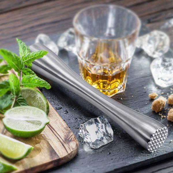 Pilon à Cocktail Argent Solide Acier Inoxydable 3