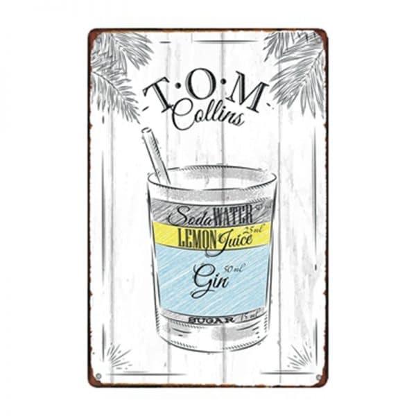 Affiche de cocktails de rhum rectangulaire 3
