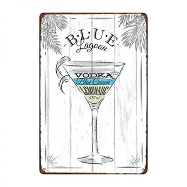Affiche de cocktails de rhum rectangulaire 5