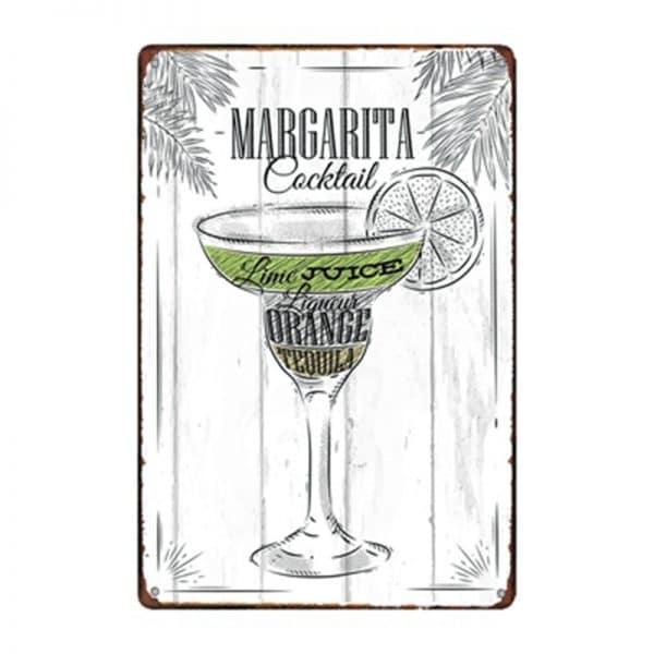 Affiche de cocktails de rhum rectangulaire 6