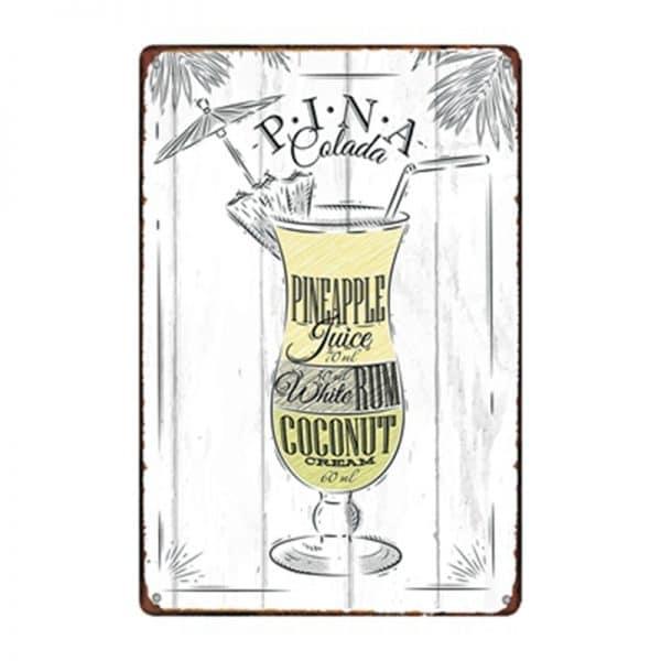 Affiche de cocktails de rhum rectangulaire 2