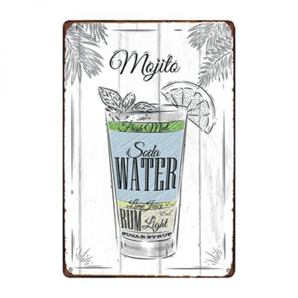 Affiche de cocktails de rhum rectangulaire 1