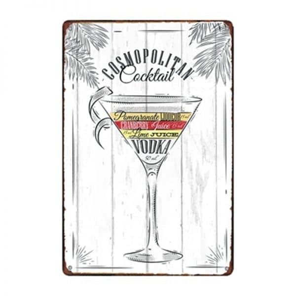 Affiche de cocktails de rhum rectangulaire 4