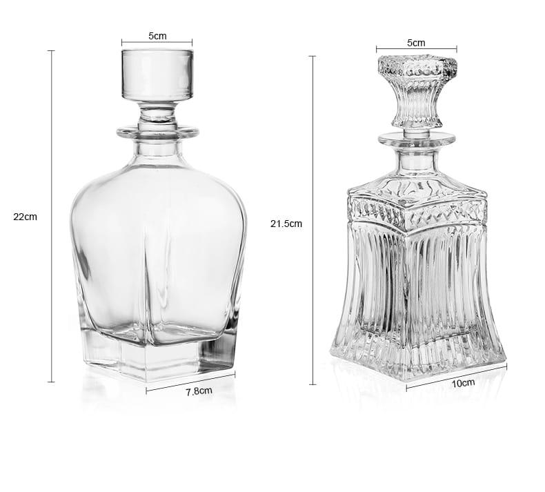 Carafe à Rhum Transparent Cristal 8